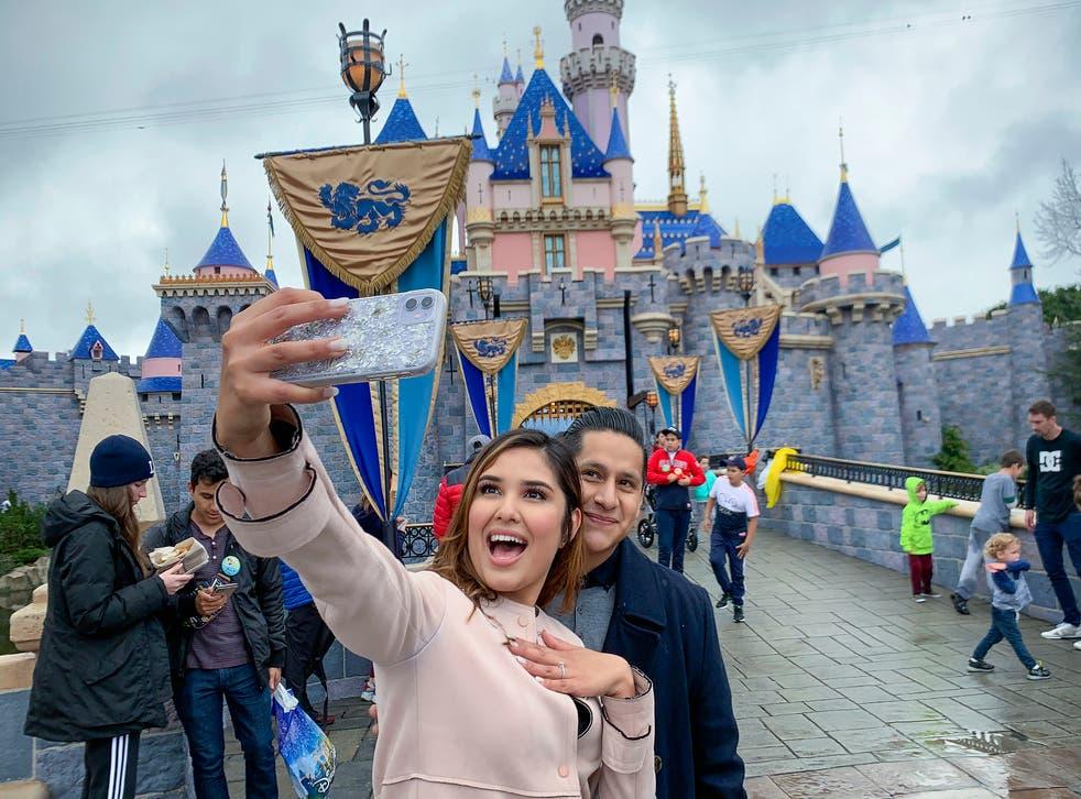 Virus Outbreak California Tourism Disneyland