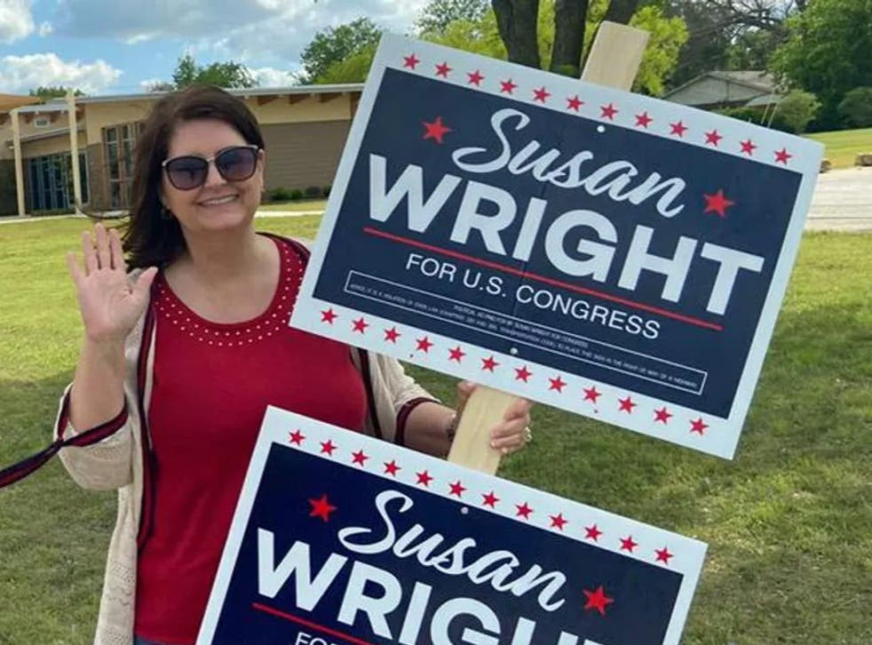 Susan Wright, a congressional candidate for the US House of Representatives from Texas, said anonymous robocalls were accusing her of murdering her husband, who died of coronavirus in February