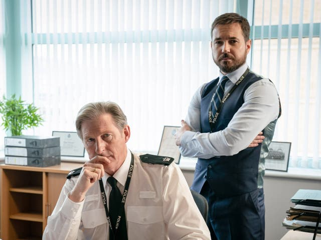 Adrian Dunbar and Martin Compston in Line of Duty