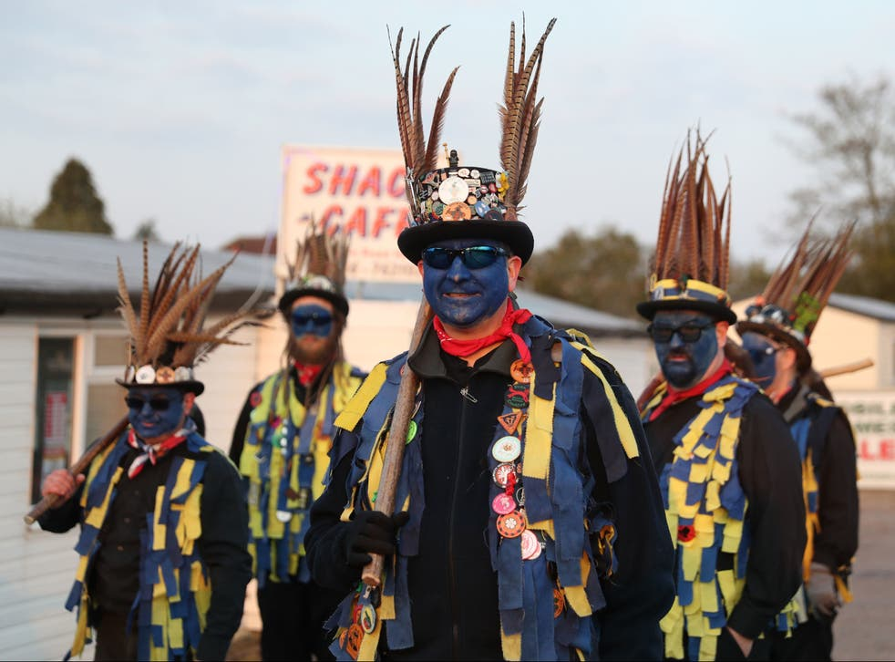 The Hook Eagle Morris Men performed together for the first time in more than a year to mark the May Day dawn