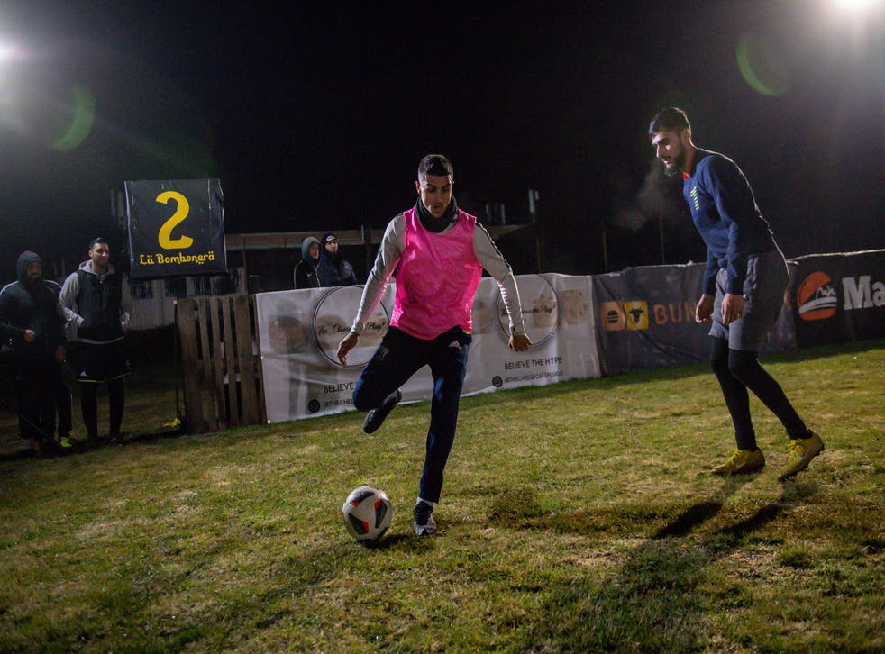 Players participate in the Midnight Ramadan League