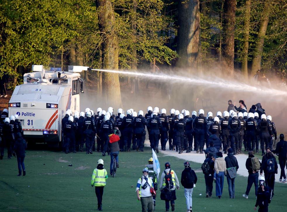 CORONAVIRUS-BELGICA-PROTESTAS