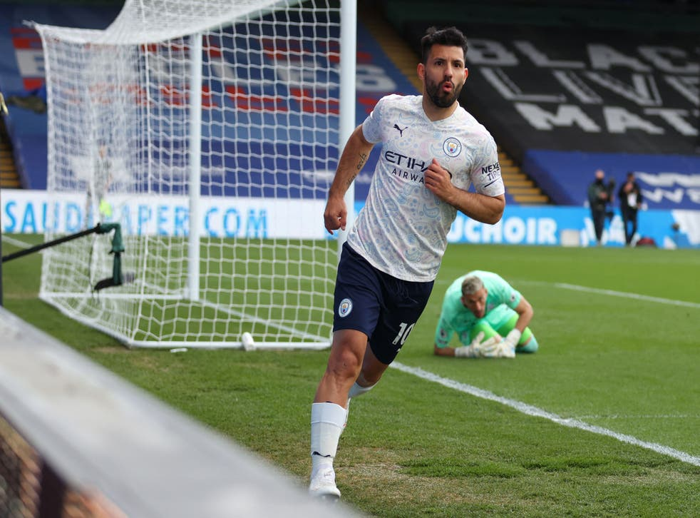 <p>Sergio Aguero was back on the scoresheet for Manchester City on Saturday</p>