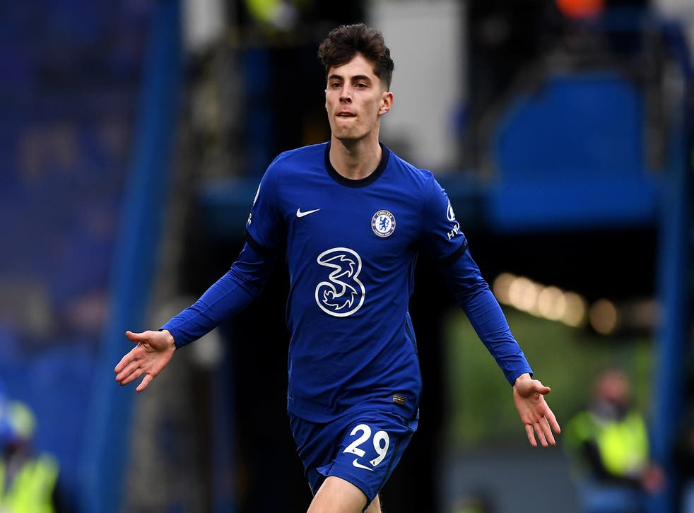 <p>Kai Havertz's two goals against Fulham took him to double figures in his first season at Stamford Bridge</p>