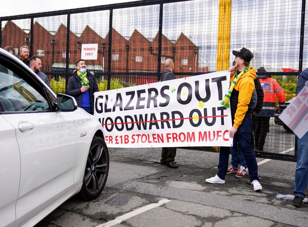Britain Soccer Manchester United Protest