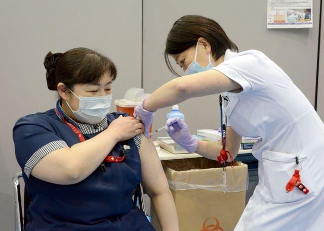 Olympics Tokyo Nurses Protest