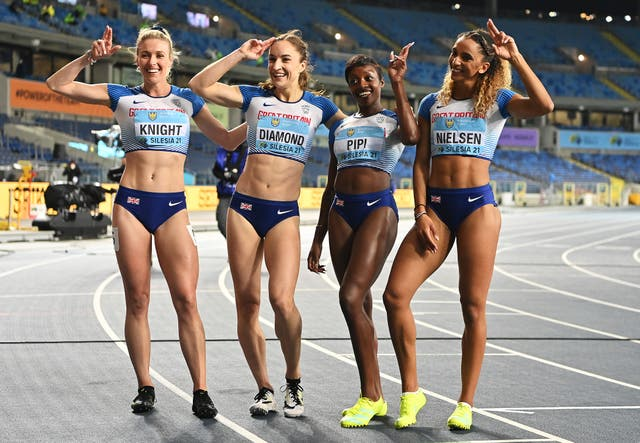 <p>Team GB were caught by Cuba and Poland on the final leg</p>
