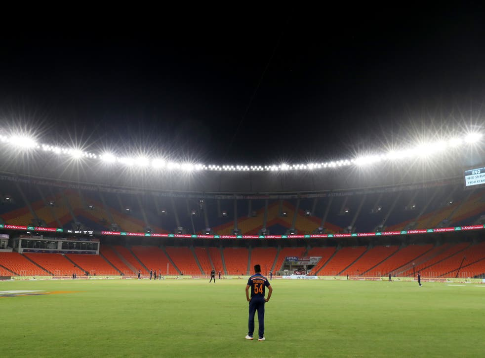 <p>The postponed match was due to take place at the Narendra Modi Stadium in Ahmedabad</p>