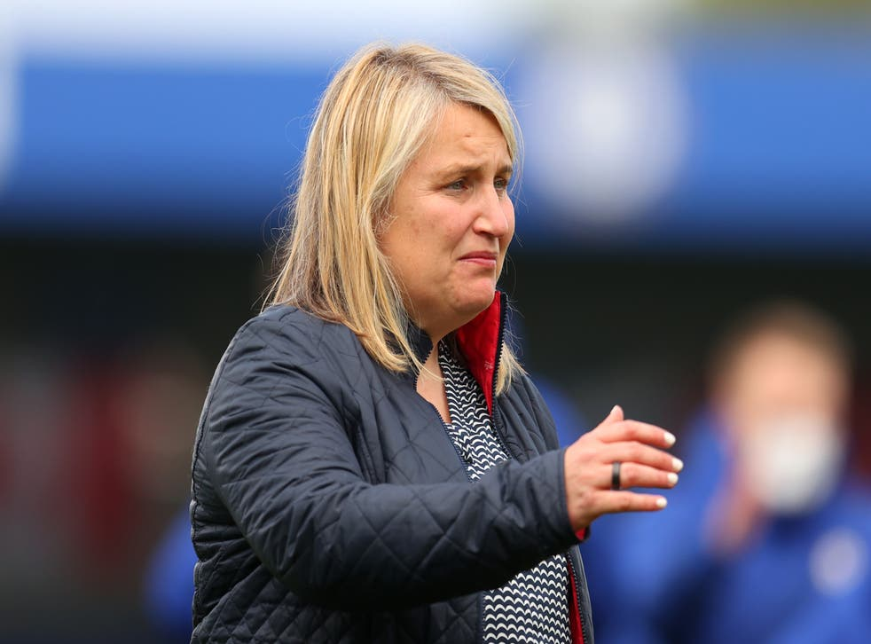 <p>Emma Hayes was in tears after Chelsea held on to defeat Bayern Munich on Sunday</p>