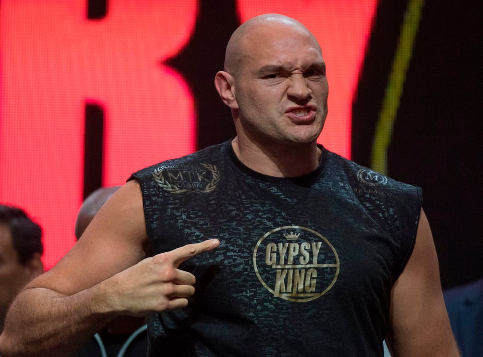 <p>Tyson Fury is said to be growing agitated as he waits for a deal to be announced</p>