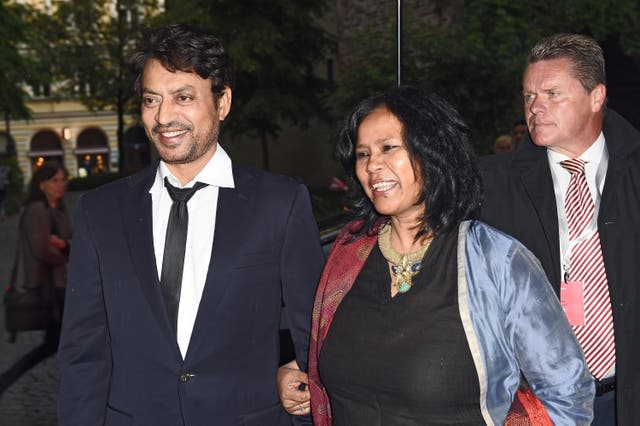 <p>File image: Irrfan Khan and wife Sutapa Sikdar at the 'Qissa' Premiere as part of Filmfest Muenchen 2014 </p>
