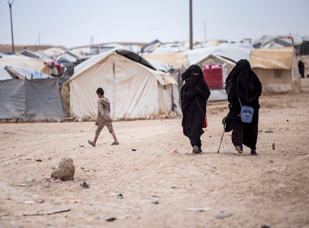 <p>The al-hol refugee camp in northeast Syria is home to many families and supporters of Isis</p>