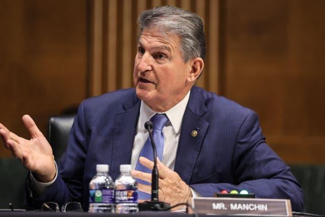 <p>Mr Manchin is a key swing vote in the Senate </p>