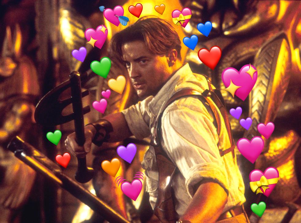 Heart emoji: Brendan Fraser in The Mummy Returns