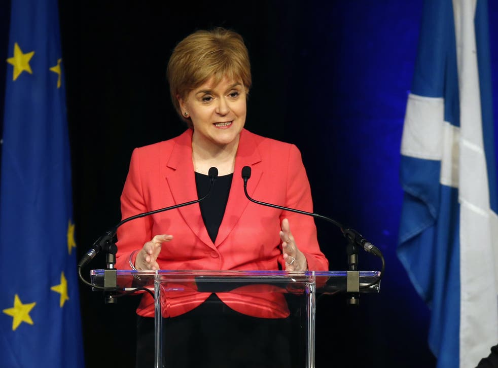 SNP leader and Scotland's first minister Nicola Sturgeon