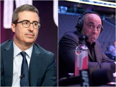 John Oliver says Joe Rogan is a 'f***ing moron' for Covid vaccine comments
