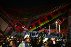 At least 15 dead as Mexico City subway overpass collapses