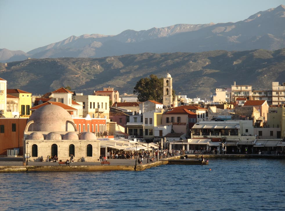 <p>Green light? Chania on the Greek island of Crete, rated as low-risk for Covid by the Foreign Office</p>