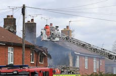 Ashford explosion: Kent house in flames following blast that shook homes