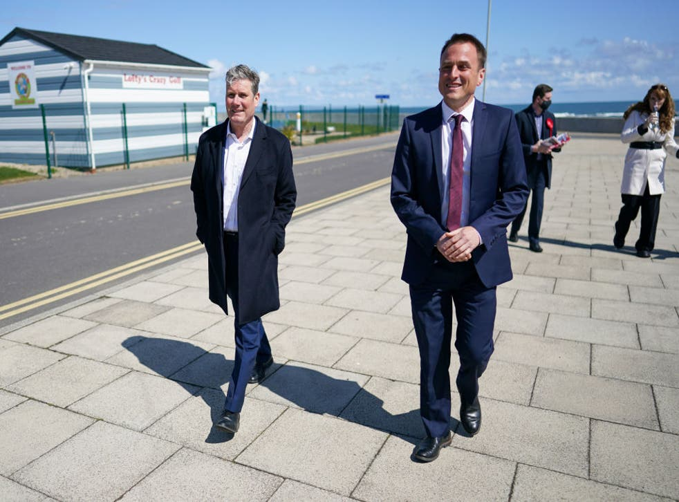 <p>Keir Starmer and Labour Party candidate for Hartlepool Paul Williams visit Seaton Carew seafront</p>