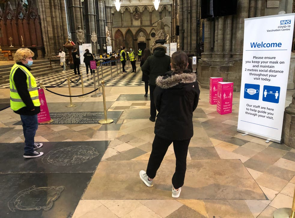 Changing places: Westminster Abbey has served as a vaccination centre during the coronavirus pandemic