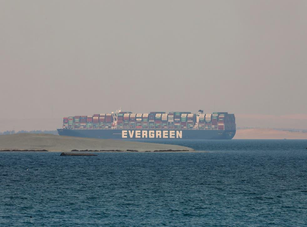 Suez Canal Vessal
