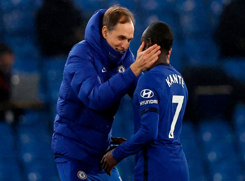 <p>Thomas Tuchel has made his admiration for the Frenchman clear with their embraces after games</p>