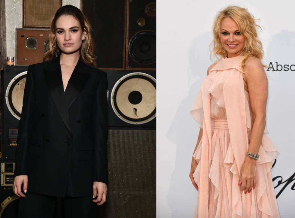 Lily James (left) will portray Pamela Anderson (right) in an upcoming TV series