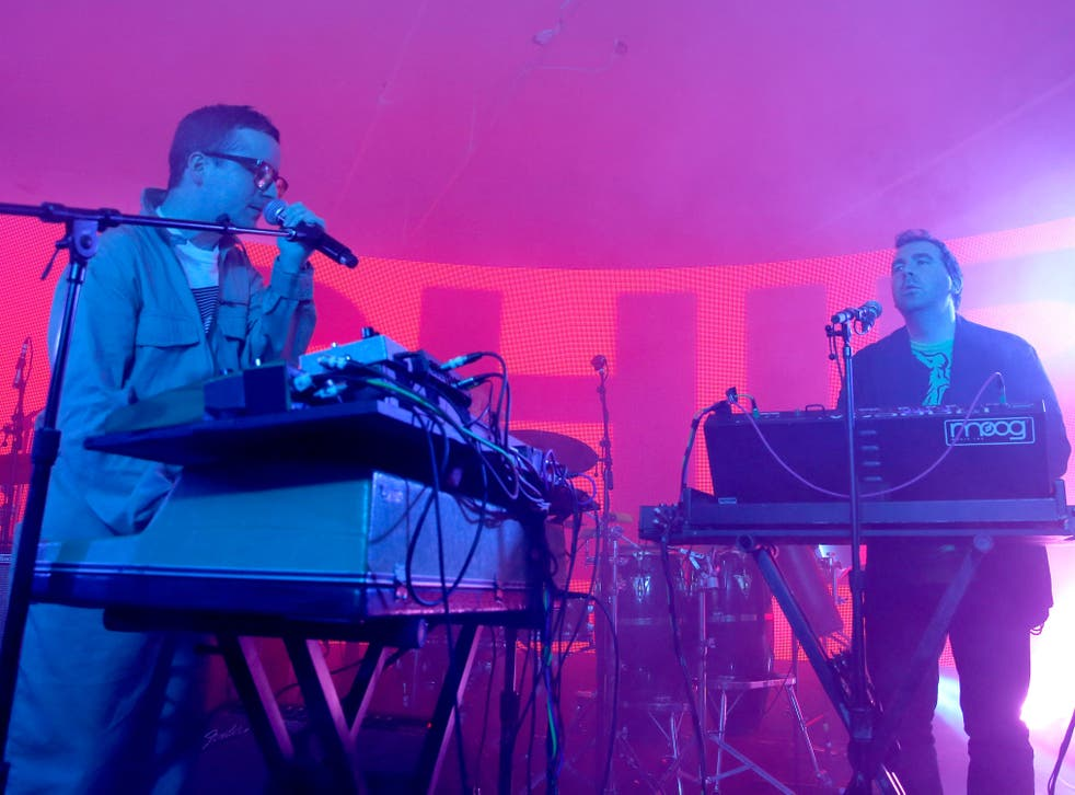 Hot Chip on stage in 2015