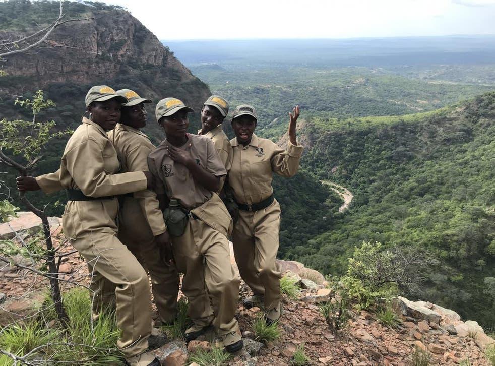 <p>Community scouts (left to right): Jeska Muleya, Sithabile Munenga, Siphathisiwe Muleya, Patient Munsaka and Anita Mudenda </p>