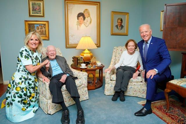 Visita de Biden Carter