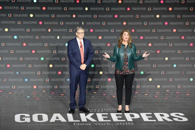 <p>File Image: Bill Gates and his wife Melinda Gates introduce the Goalkeepers event at Lincoln Center on 26 September  2018, in New York</p>