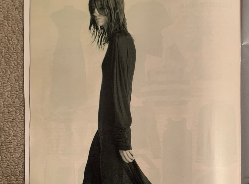 Photo issued by Advertising Standards Authority (ASA) showing an ad for Sportmax, a subsidiary label of Max Mara, seen in The Sunday Times Style magazine on 28 February, which featured a female model pictured from the side and wearing a long-sleeved ankle length black dress with boots
