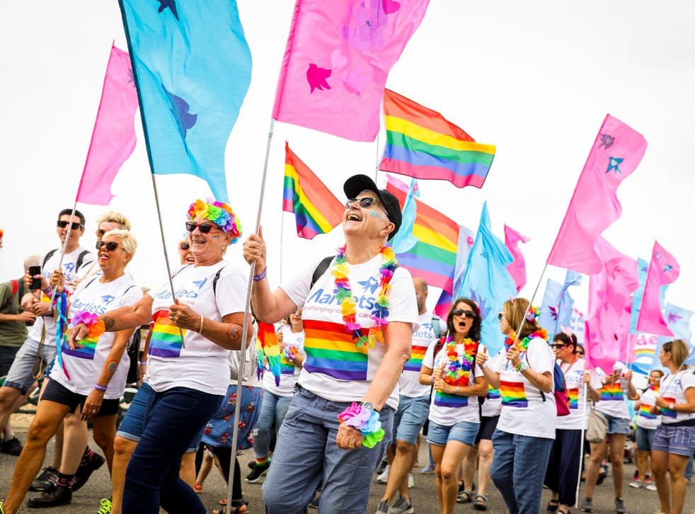 Attendees at Brighton Pride in 2019