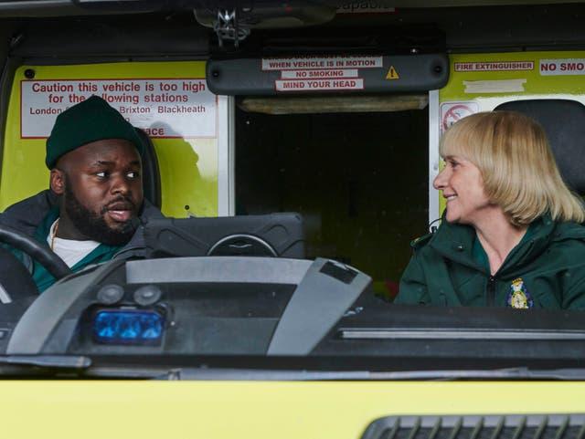 <p>Incompetents: Mareek (Samson Kayo) and Wendy (Jane Horrocks)</p>