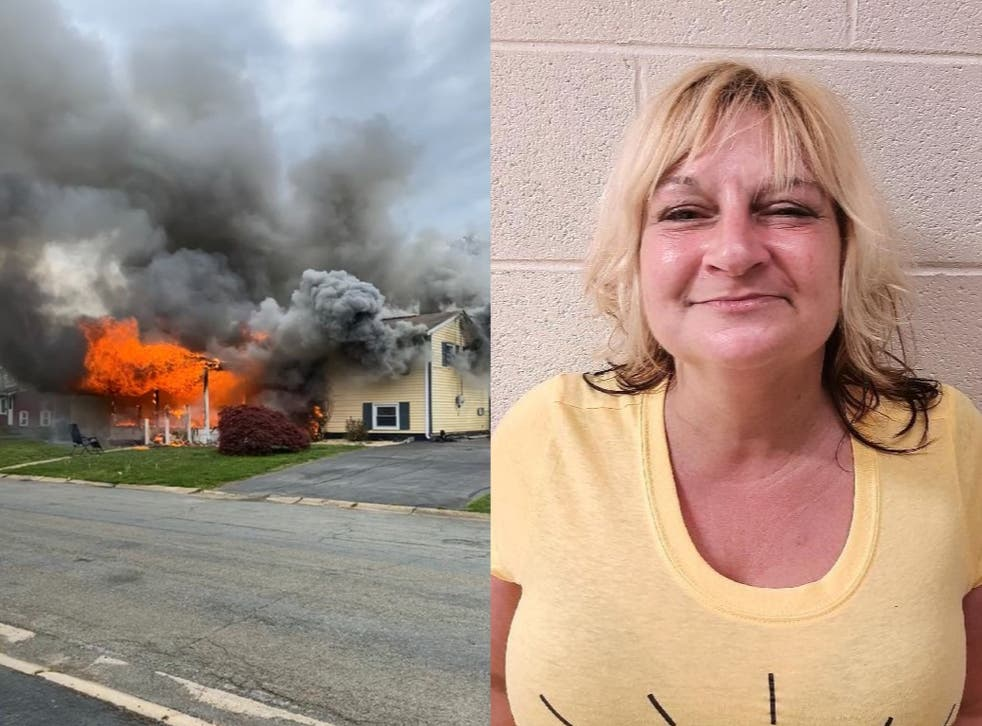 <p>Witnesses said Gail Metwally, 47, of Elkton in Cecil County allegedly set 'multiple' fires in the home</p>