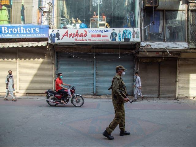 The woman was shot dead in a flat in Lahore in Pakistan