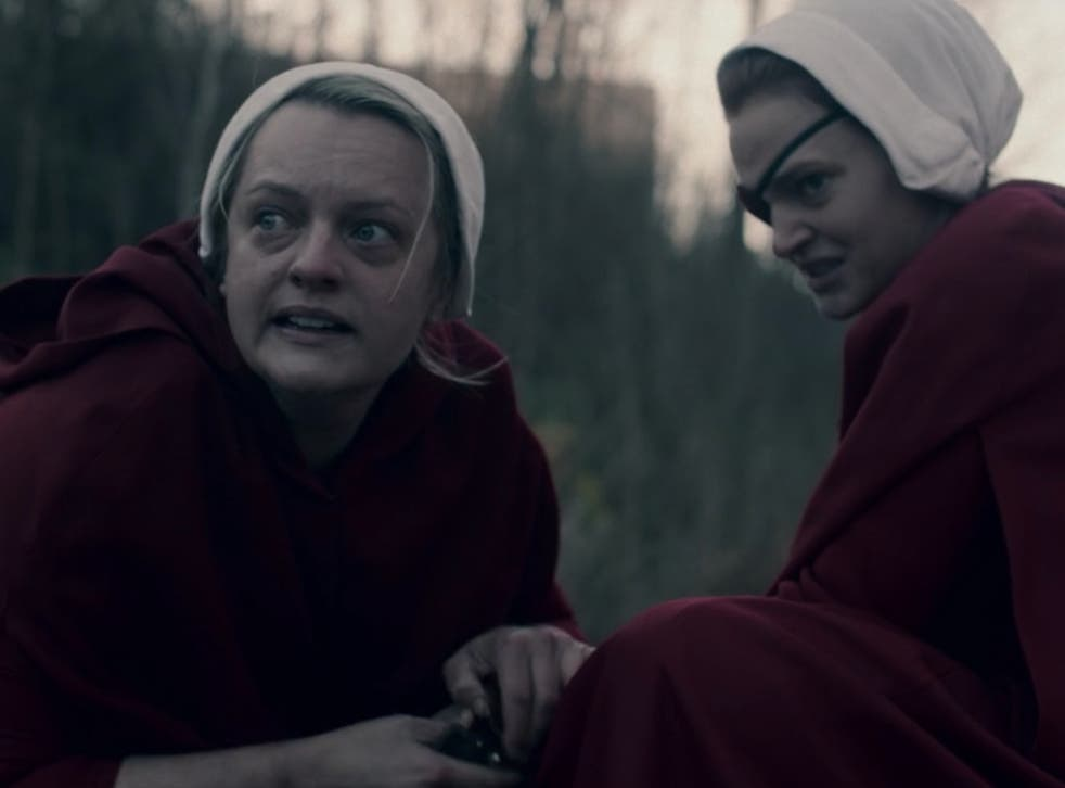 Elisabeth Moss and Madeline Brewer in The Handmaid's Tale season four episode four