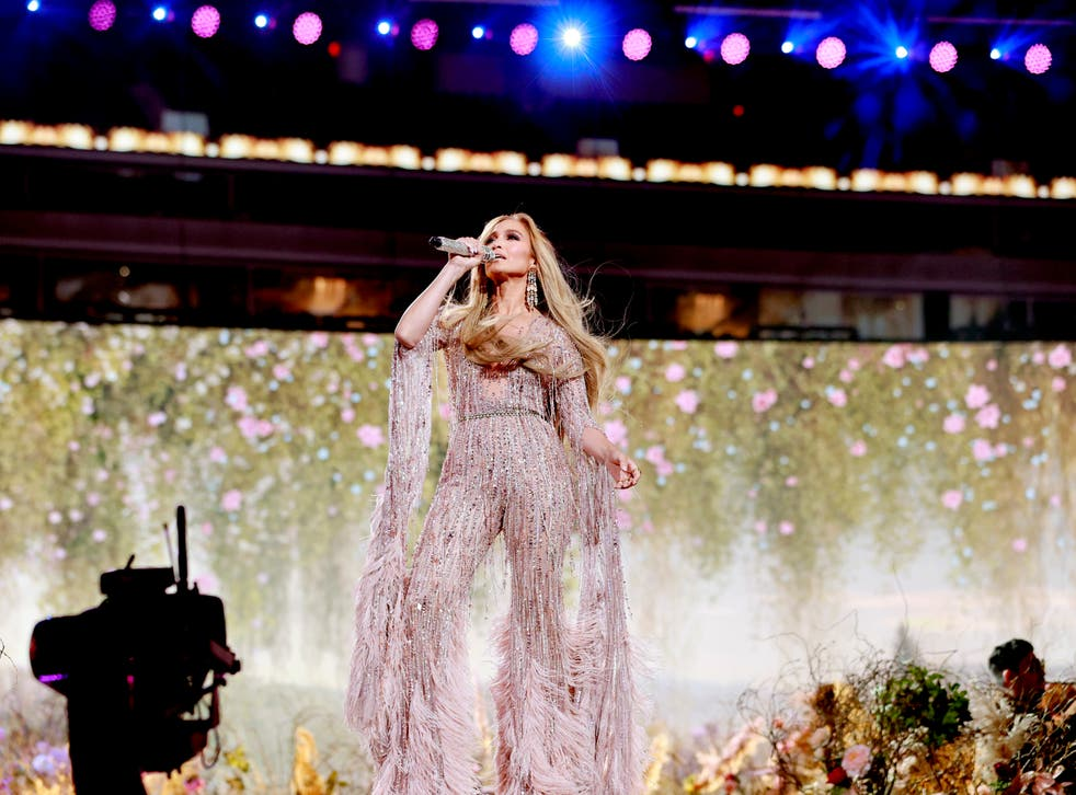 Jennifer Lopez performs onstage during Global Citizen VAX LIVE: The Concert To Reunite The World