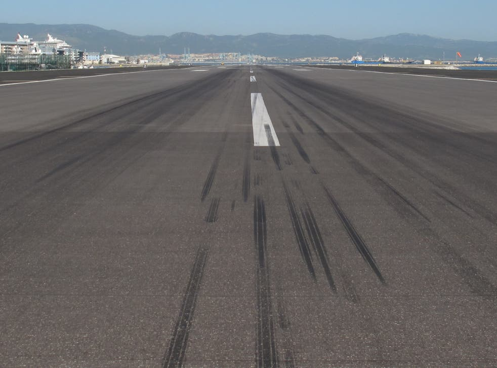 Flight plan: the runway at Gibraltar airport, likely to be on the 'green list'