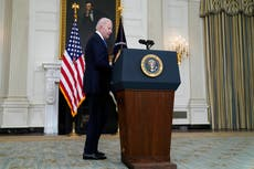 Biden news – live: President praised for backing vaccine patents waiver as aides 'working on' Putin meeting