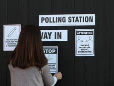 Local elections 2021 – live: Leaders cast votes as millions face social distancing queues to go to polls