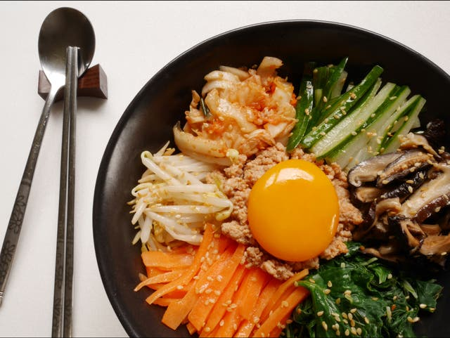 <p>Bibimbap is one of the most popular and well known Korean dishes</p>