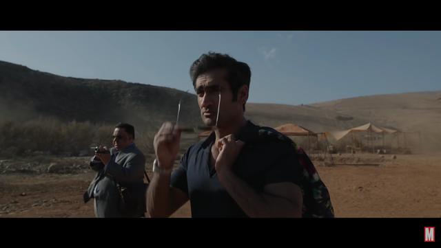 <p>Screengrab of Harish Patel seen in an Eternals clip released by Marvel</p>
