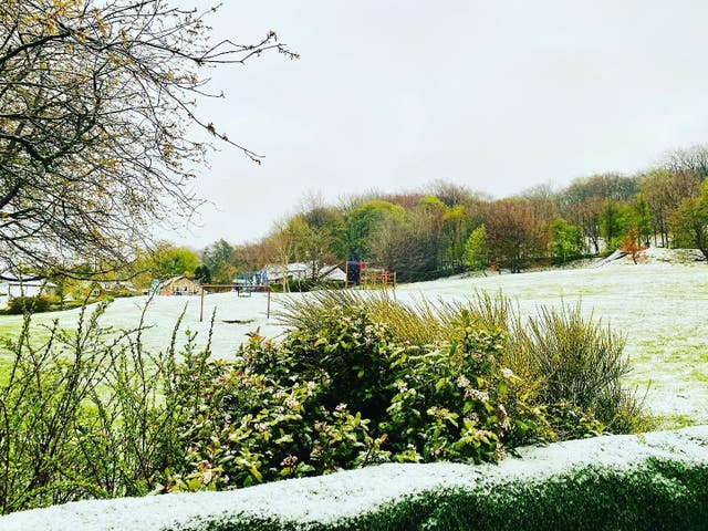 <p>Unusual May weather was seen across the north of the UK</p>