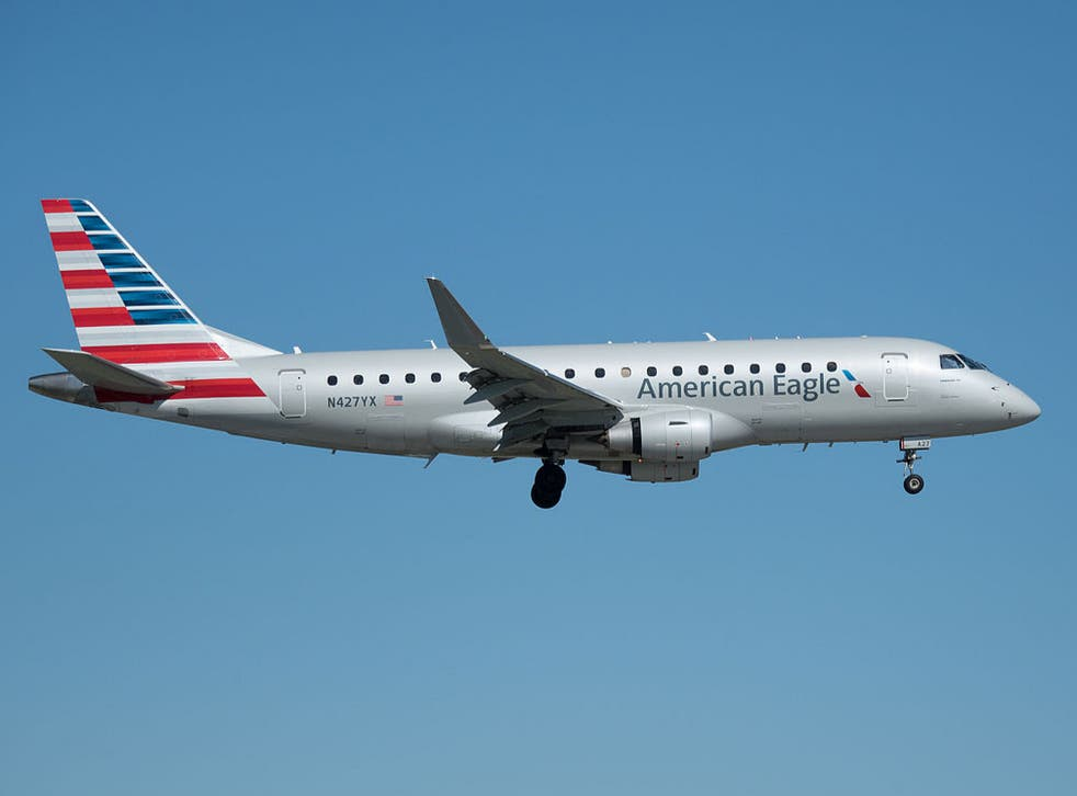 An American Eagle flight was diverted