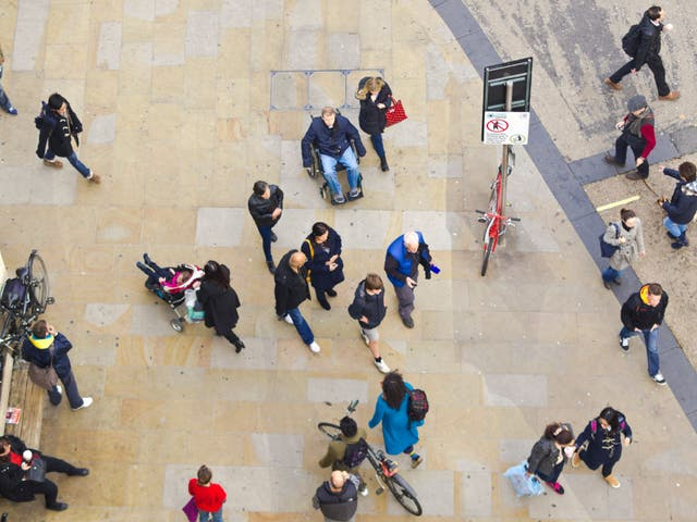 Moving around as a wheelchair-user has become more difficult as people socialise outside again