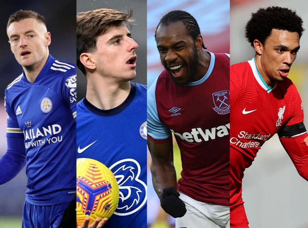 Leicester, Chelsea, West Ham, Tottenham and Liverpool are battling for a top four place