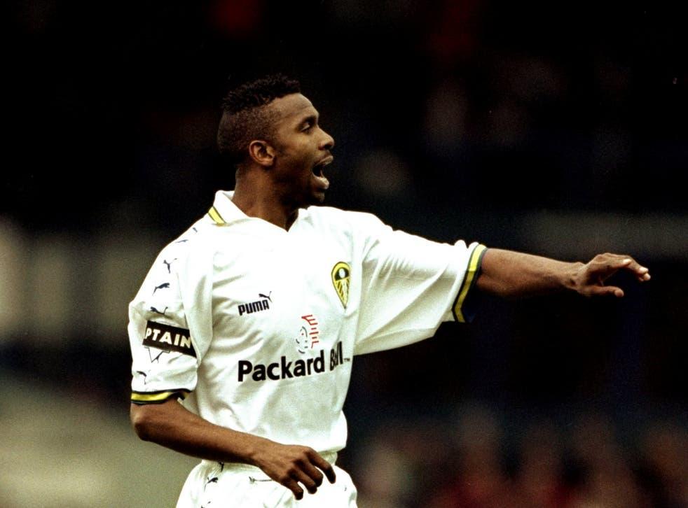 Lucas Radebe captaining Leeds in 1999