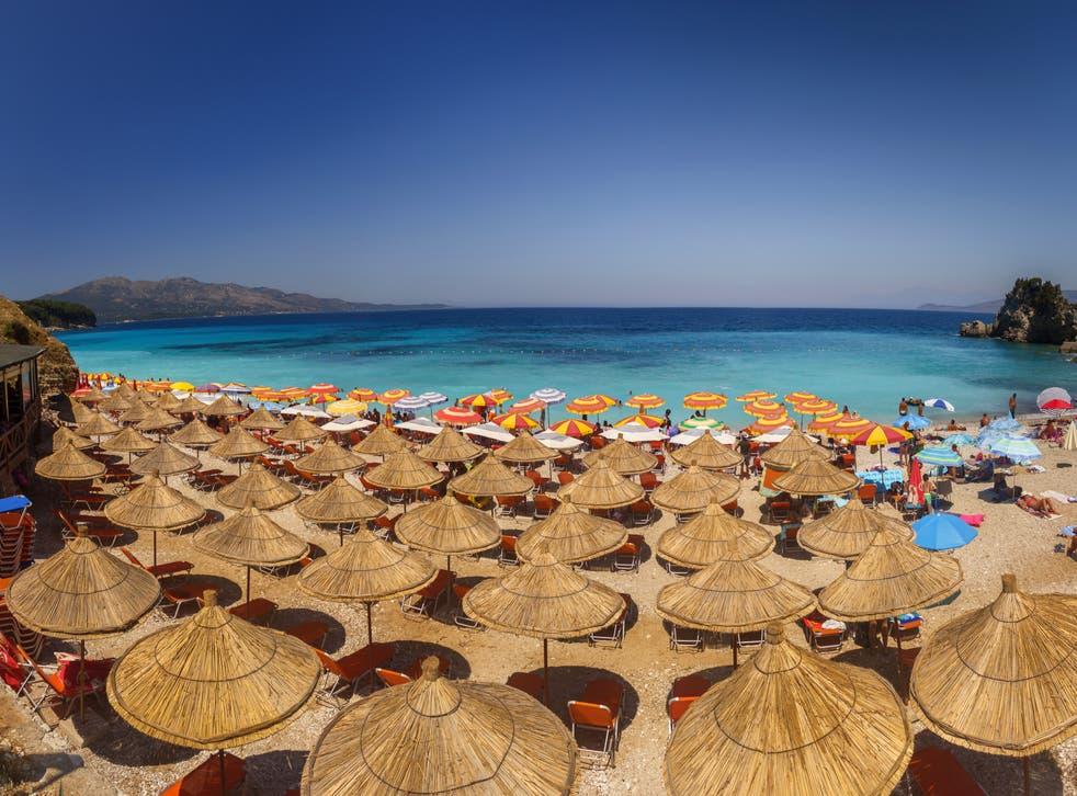 <p>Adriatic bliss? The beach at Durres in Albania</p>